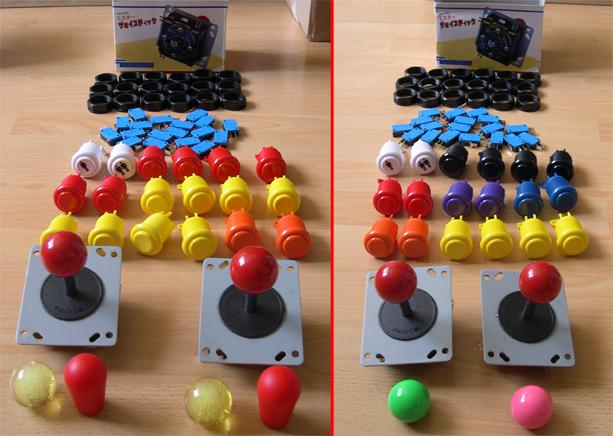 Control Panel Mamecab Boutons et JoySticks