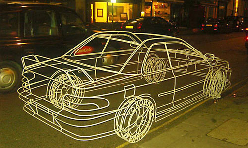Subaru impreza 3D filaire